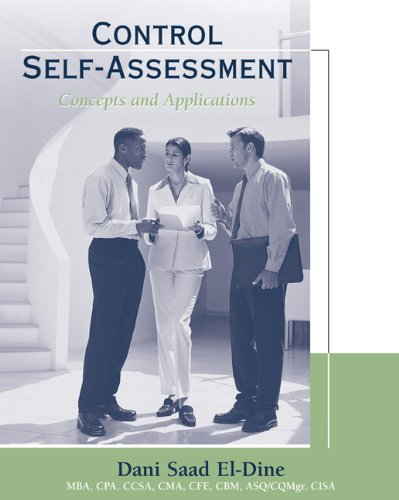 9780324226010: Control Self-Assessment: Concepts and Applications