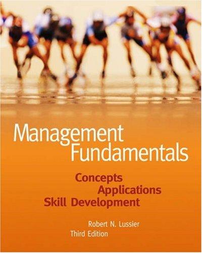 9780324226065: Management Fundamentals: Concepts, Applications, Skill Development