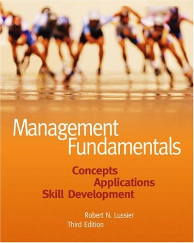 9780324226065: Management Fundamentals: Concepts, Applications, Skill Development
