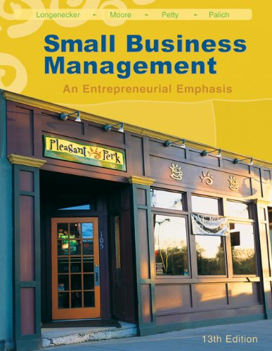 Small Business Management: An Entrepreneurial Emphasis (with: Justin G. Longenecker,