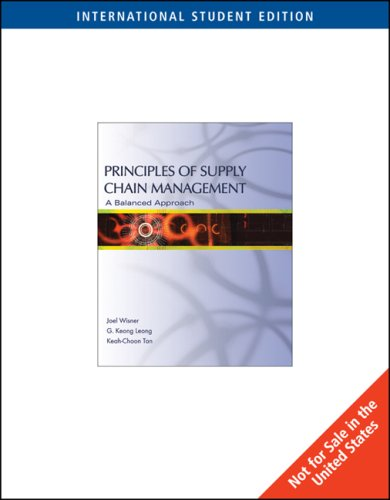 9780324227079: Principles of Supply Chain Management: A Balanced Approach
