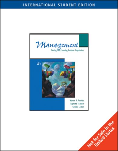 9780324227154: Management: Meeting and Exceeding Customer Expectations, International Student Edition Plus Infotrac