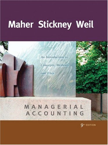 9780324227222: Managerial Accounting: An Introduction to Concepts, Methods and Uses (Available Titles CengageNOW)