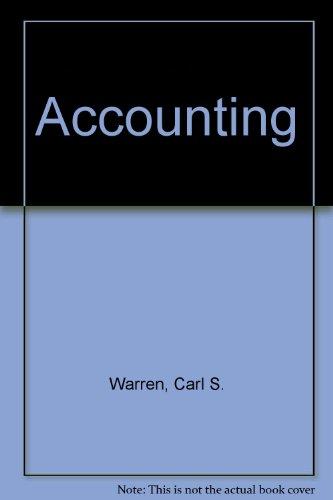 Accounting: Carl S. Warren,