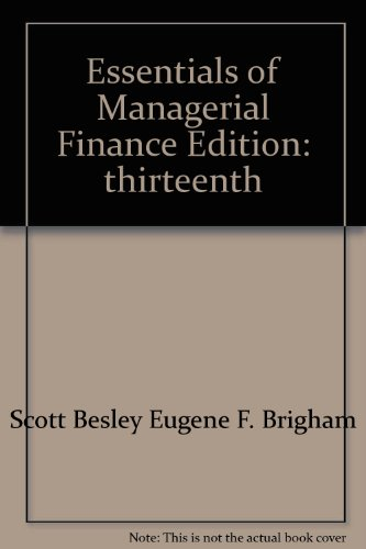 9780324232783: Essentials of Managerial Finance