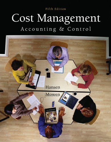 9780324233100: Cost Management: Accounting and Control (Available Titles CengageNOW)