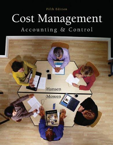 solution manual cost management hansen mowen