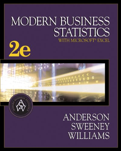 Modern Business Statistics (with CD-ROM and InfoTrac: David R. Anderson,