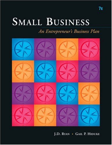 9780324233438: Small Business: An Entrepreneur's Business Plan