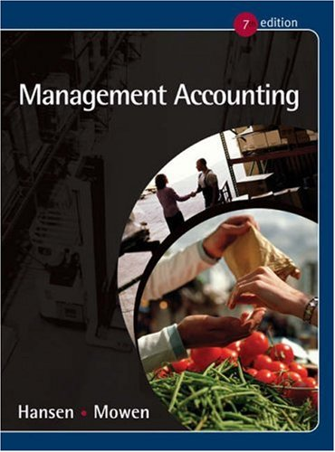 9780324234848: Management Accounting (with InfoTrac)
