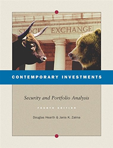 9780324258110: Contemporary Investments: Security and Portfolio Analysis