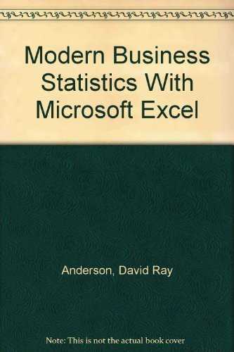 9780324264524: Modern Business Statistics With Microsoft Excel