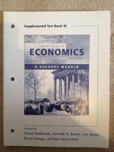 9780324269147: Principles of Economic: supplement No. 3