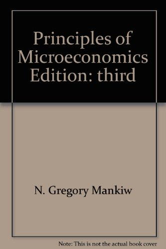 9780324269390: PRINCIPLES OF MICROECONOMICS [Taschenbuch] by MANKIW