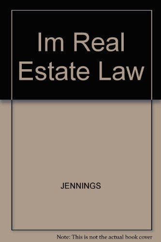 Im Real Estate Law (0324269951) by JENNINGS