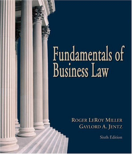 9780324270945: Fundamentals of Business Law (with Online Research Guide)