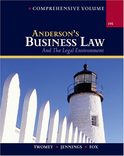 Anderson's Business Law and The Legal Environment,: David P. Twomey,