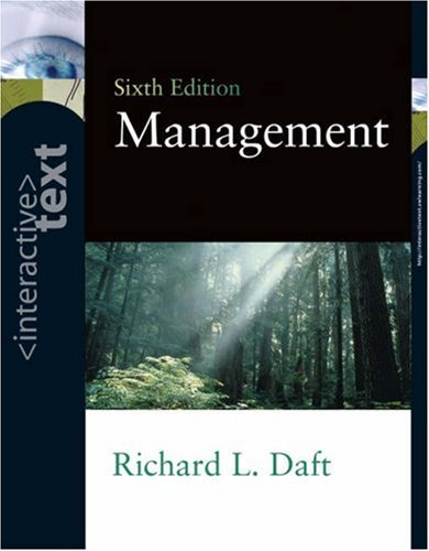 Interactive Text for Management (9780324271652) by Richard L. Daft