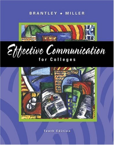 9780324272710: Effective Communication for Colleges