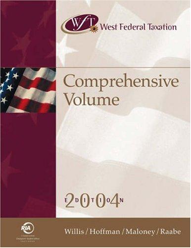 9780324275193: West Federal Taxation: Comprehensive Volume 2004, Professional Version (West's Federal Taxation: Comprehensive Volume)