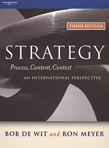 9780324282719: Strategy: Process, Content, Context--An International Perspective