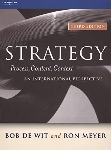 9780324282719: Strategy: Process, Content, Context--An International Perspective