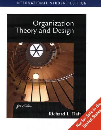 Richard Daft Organization Theory Design Abebooks