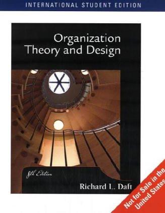 9780324282788: Organization Theory and Design