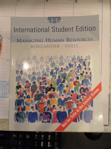 9780324282863: Managing Human Resources