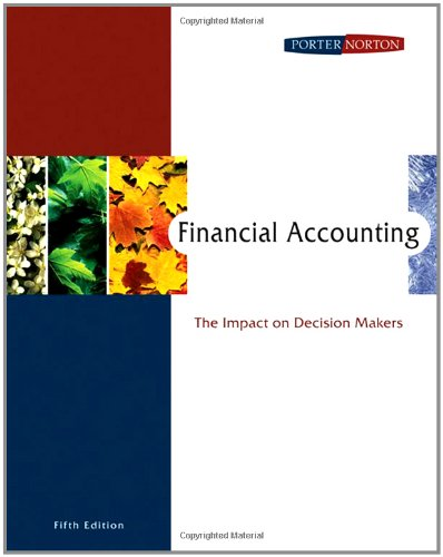 Financial Accounting: The Impact on Decision Makers: Gary A. Porter,