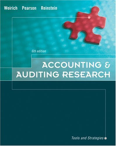 9780324302240: Accounting & Auditing Research: Tools and Strategies (text only)