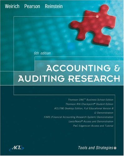 9780324302288: Accounting & Auditing Research: Tools and Strategies, Sixth Edition