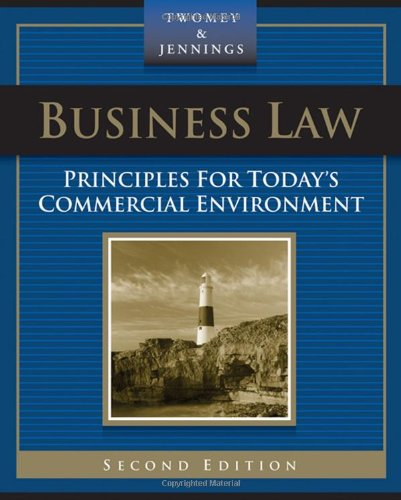 9780324303940: Business Law: Principles for Today's Commercial Environment