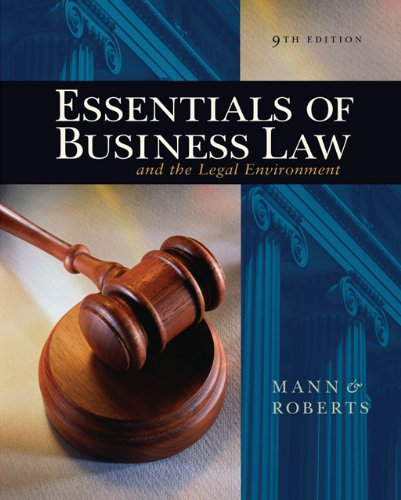 9780324303957: Essentials of Business Law and the Legal Environment