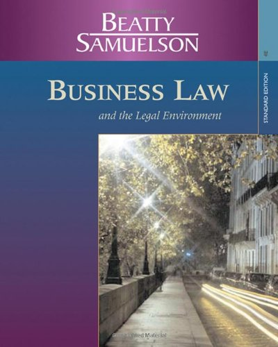 9780324303971: Business Law and the Legal Environment, Standard Edition