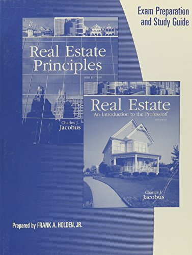 9780324305685 Exam Prep Study Guide For Jacobus Real Estate Principles 10th And Real Estate An Introduction To The Profession 10th Abebooks Jacobus Charles J 0324305680