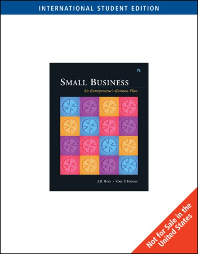9780324306019: Small Business: An Entrepreneur's Business Plan (Ise)