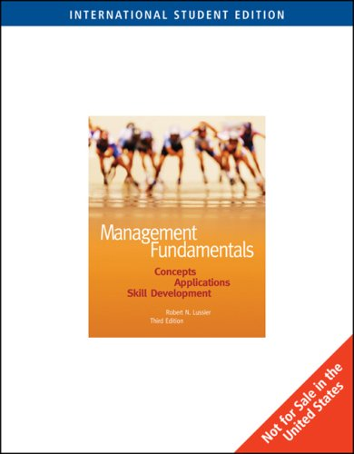 9780324306088: Management Fundamentals: Concepts, Applications, Skill Development: With Infotrac