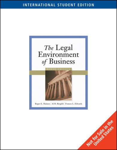 9780324311105: The Legal Environment of Business (9th International Edition)
