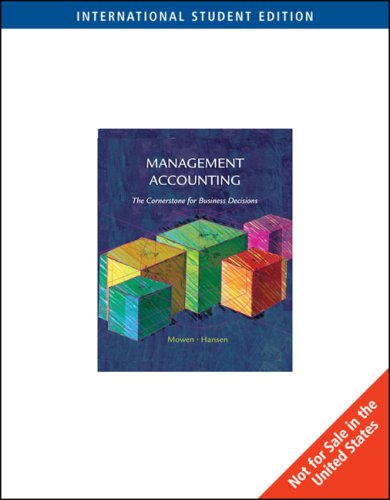 9780324311358: Management Accounting - Study Guide (06) by Mowen, Maryanne M - Hansen, Don R [Paperback (2005)]