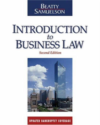 Introduction to Business Law: Beatty, Jeffrey F.,