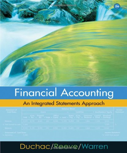 Financial Accounting: An Integrated Statements Approach: Jonathan Duchac, James