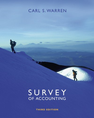 9780324312485: Survey of Accounting (Available Titles CengageNOW)