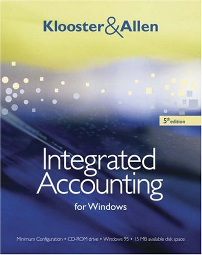 9780324312492: Integrated Accounting for Windows (with Integrated Accounting Software CD-ROM)
