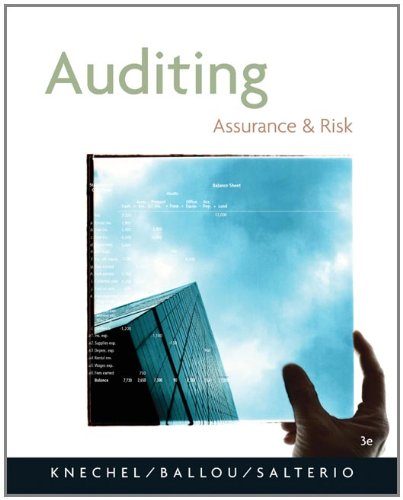 9780324313185: Auditing: Assurance and Risk