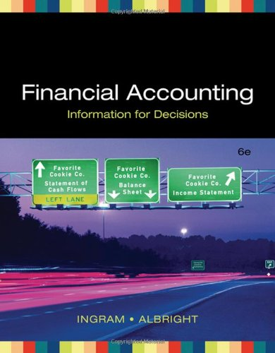 9780324313413: Financial Accounting: Information for Decisions (Available Titles Cengagenow)