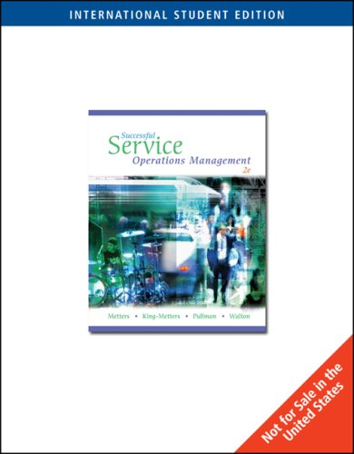 PKG, ISE, SUCCESSFUL SERVICE O PS MGMT: Metters, Richard D,