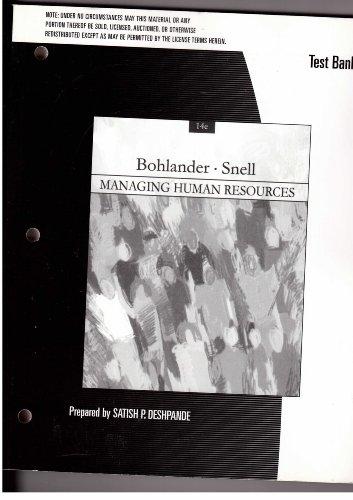 9780324314656: Managing Human Resources Test Bank