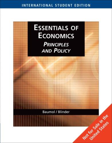 9780324316261: Essentials of Economics: Principles and Policy