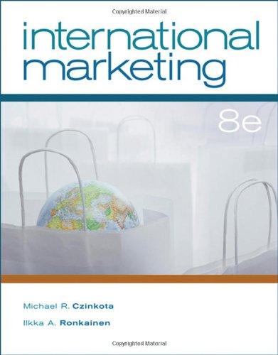 9780324317022: International Marketing